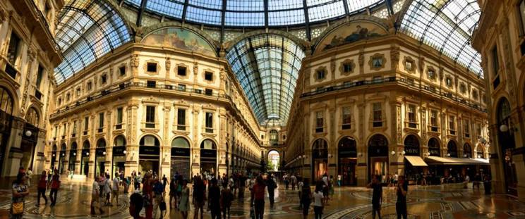 The famous Milan Galleria! Our layover was during Expo Milano, and while we didn't have time to go to the fairgrounds, the international atmosphere in the city was really cool.