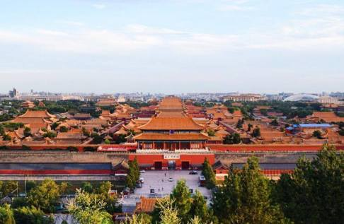View of the Forbidden City from Jingshan Park.