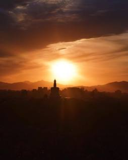 Sunset from Jingshan Park!